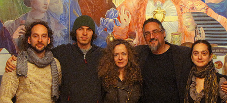 Members of the faculty in Atelier Ernst Fuchs, Vienna