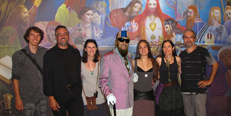 Some members of the Faculty and Administration with Professor Ernst Fuchs